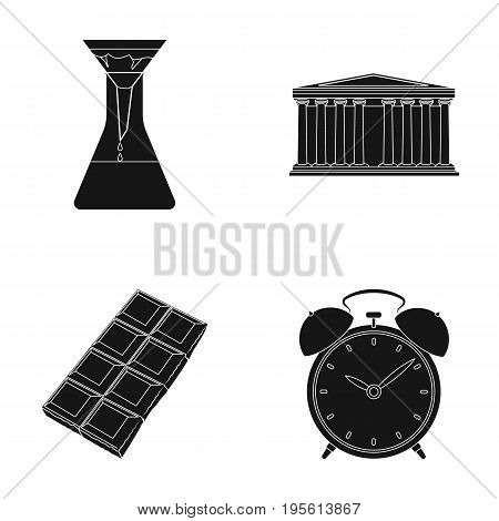 Education, cooking and or  icon in black style.traveling, history icons in set collection.