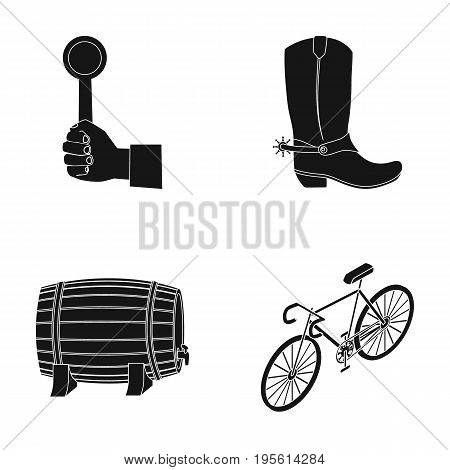 Alcohol, police and or  icon in black style.sports, transport icons in set collection.