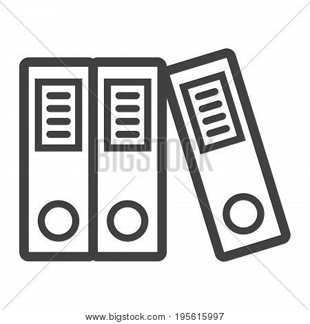 Binders line icon, business and folder, vector graphics, a linear pattern on a white background, eps 10.