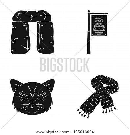 History, travel and or  icon in black style.animals, education icons in set collection.