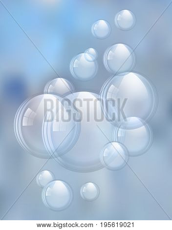An illustration of the beautiful soap bubbles.