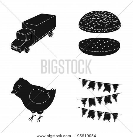 service, transportation and other  icon in black style.animals, cooking icons in set collection.