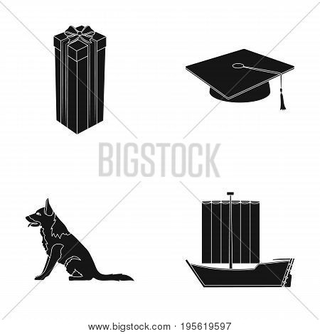 animal, service and other  icon in black style.training, history icons in set collection.