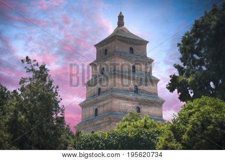 Large Pagoda Of Wild Geese