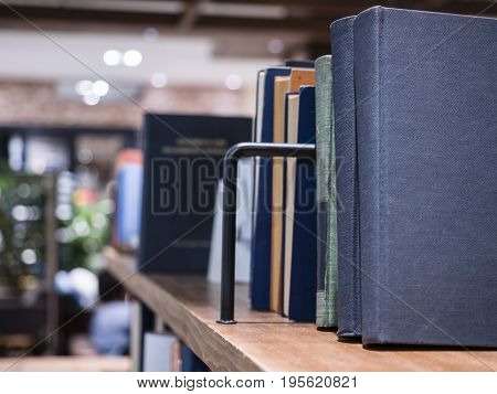 Book on Bookshelf in Library Education concept