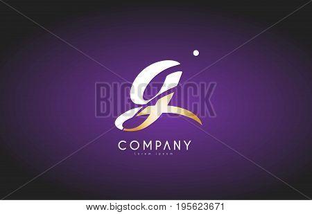 G Alphabet Letter Gold Golden Logo Icon Design