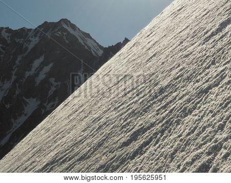 Steep slope, Caucasus, Kabardino-Balkaria Bezengi region Russia