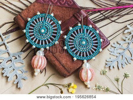 fashionable author's craft unique female accessories of beads
