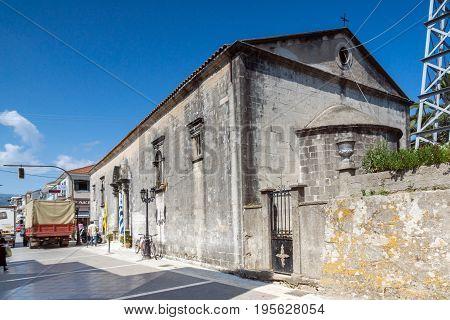 LEFKADA TOWN, GREECE - JULY 17, 2014: Old Orthodox church in  Lefkada town, Ionian Islands, Greece