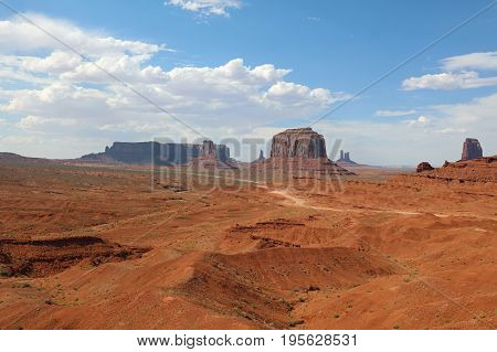 The famous Monument Valley in Arizona. USA