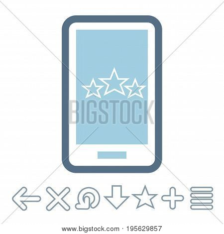 Mobile applications and interfaces icons. Vector illustration EPS8