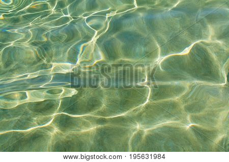 Abstract Texture. Water Ocean Background. Clear Blue Ripple Aqua Texture