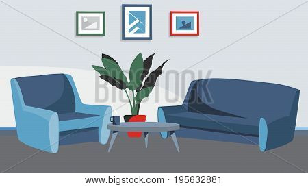 Home livingroom background Vector for cartoon, animation, advertise, campaing