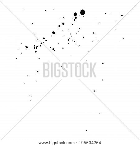 Hand Drawn Black Ink Abstract Spray Grunge Background, Seamless Pattern. Vector Texture