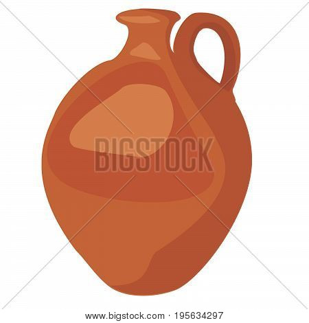 Jug cartoon icon. Kitchen tools, cookware and kitchenware vector illustration. Isolated on white