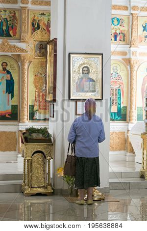 Tours, Belarus - July 15, 2017: Interior In The Cathedral Of St. Cyril And Laurence Of Turov.