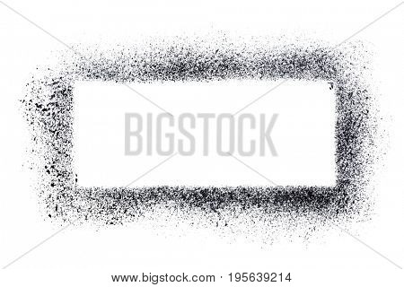 Rectangle stencil template isolated on the white background