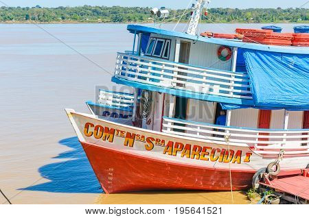 Tour Boats On The Banks Of The Madeira River