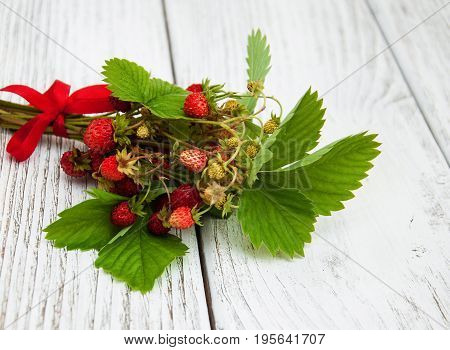 Wild Strawberries On A Table