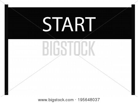 start icon on white background. start sign. flat style design. start banner.