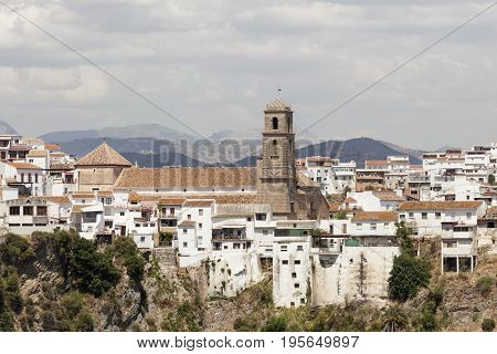 Church in the andalusian village Alora. Province of Malaga Spain
