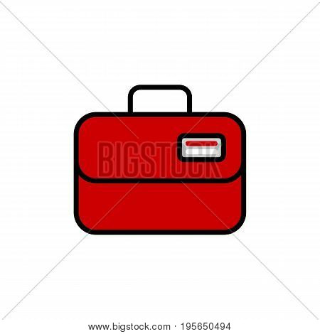 Ambulance case vector icon. line case illustration. Eps 10. Flat design