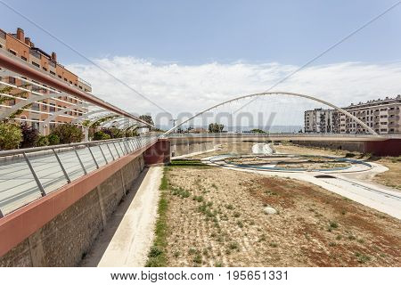 Promenade at the Guadalentin river in Lorca Province of Murcia southern Spain