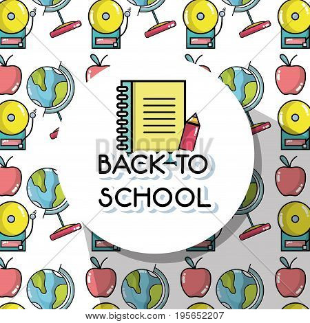 tools to back schools background design vector illustration