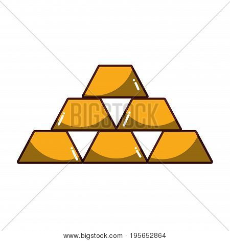 financial gold element to save in the bank vector illustration