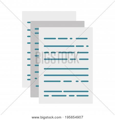 business documents to finance information of company vector illustration