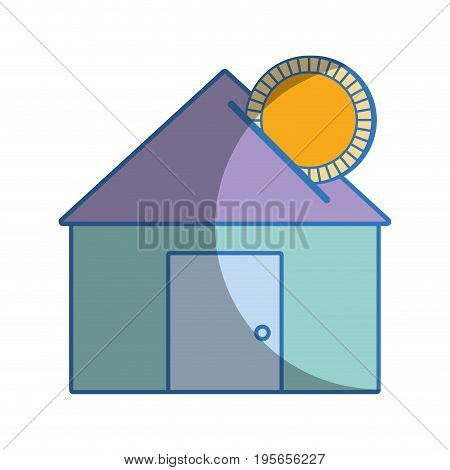 house to save cash money economy vector illustration