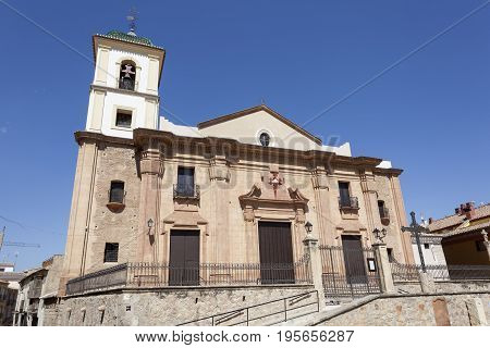Historic Santiago church in the old town of Lorca. Province of Murcia southern Spain