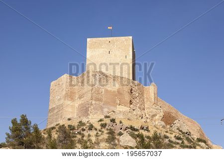 Medieval castle in the historic town Lorca. Province of Murcia southern Spain
