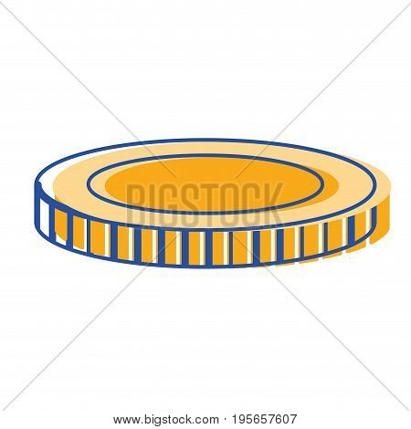 coin cash money to financial economy vector illustration