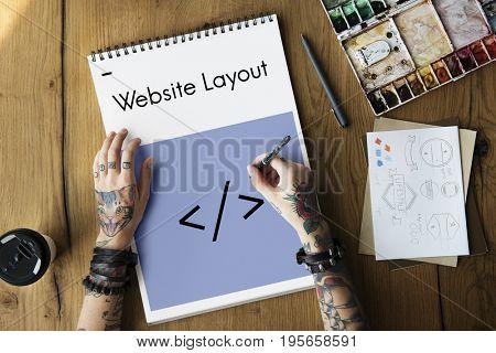 Layout Web Template Coding Brackets