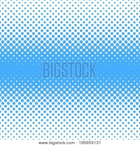 Geometric halftone dot pattern background - vector graphic design from blue circles in varying sizes