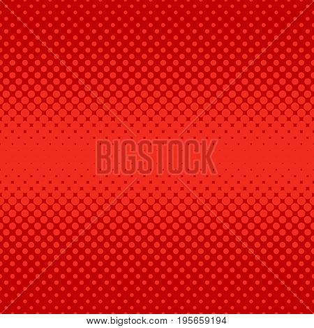 Red abstract halftone dot pattern background - vector graphic design from circles in varying sizes