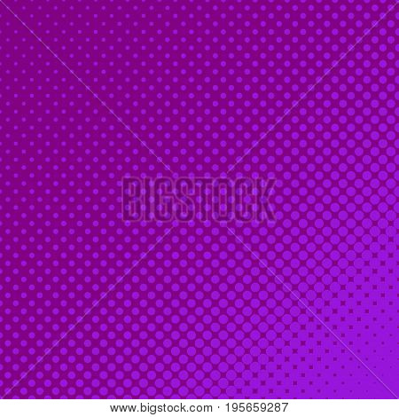 Geometric halftone dot pattern background - vector graphic from circles in varying sizes