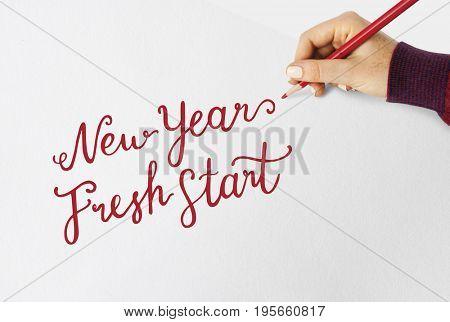 New Years fresh start quote word