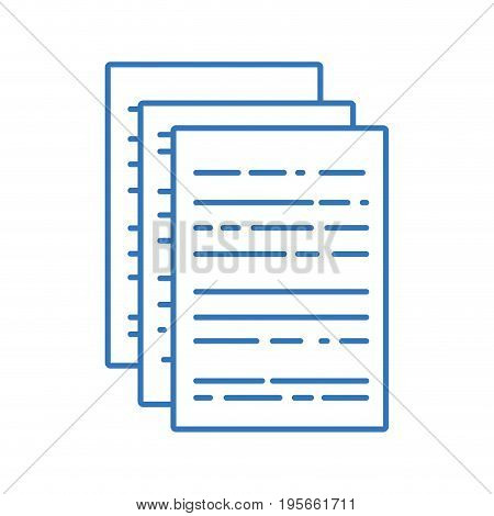 silhouette business documents to finance information of company vector illustration