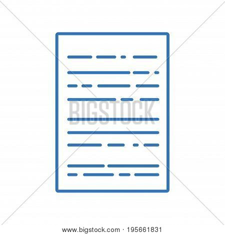 silhouette business document to finance information of company vector illustration