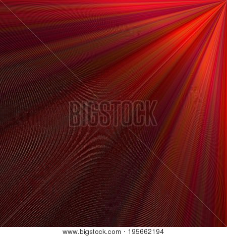 Dark red abstract ray background design - vector graphic from rays from the upper right corner