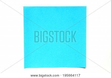 Light blue color paper sheet on white background used for decoration or design element