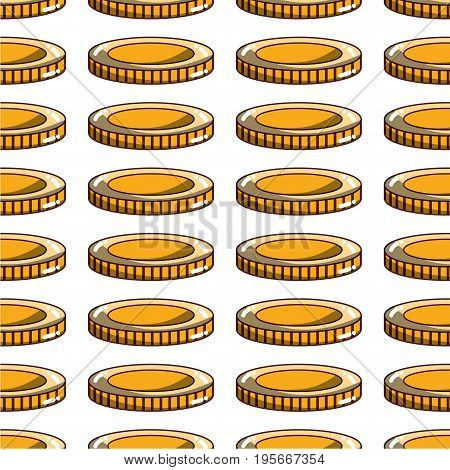 coin cash money to financial economy background vector illustration