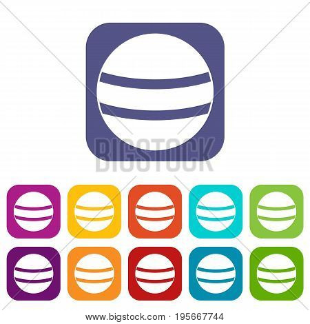 Stripes icons set vector illustration in flat style In colors red, blue, green and other