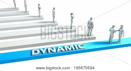 Dynamic as a Skill for A Good Employee 3D Illustration Render