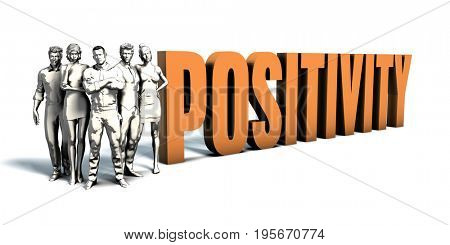 Business People Team Focusing on Improving Positivity as a Concept 3D Illustration Render