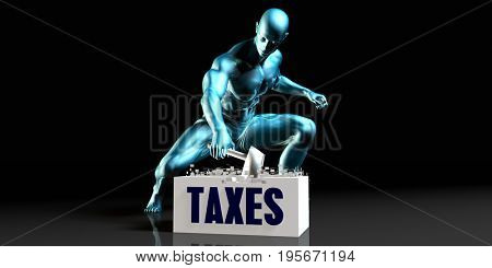 Get Rid of Taxes and Remove the Problem 3D Illustration Render