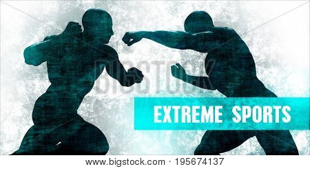 Extreme Sports Self Defence Training Concept 3D Illustration Render