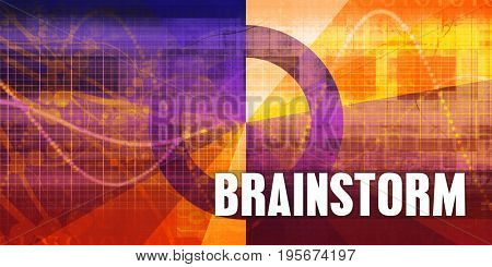 Brainstorm Focus Concept on a Futuristic Abstract Background